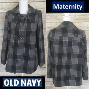 Small Old Navy Maternity Wool Grey/black Peacoat